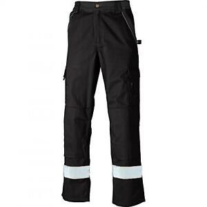 Dickies Industry 300 Two Tone Work Trousers with HI-VIS Stripe