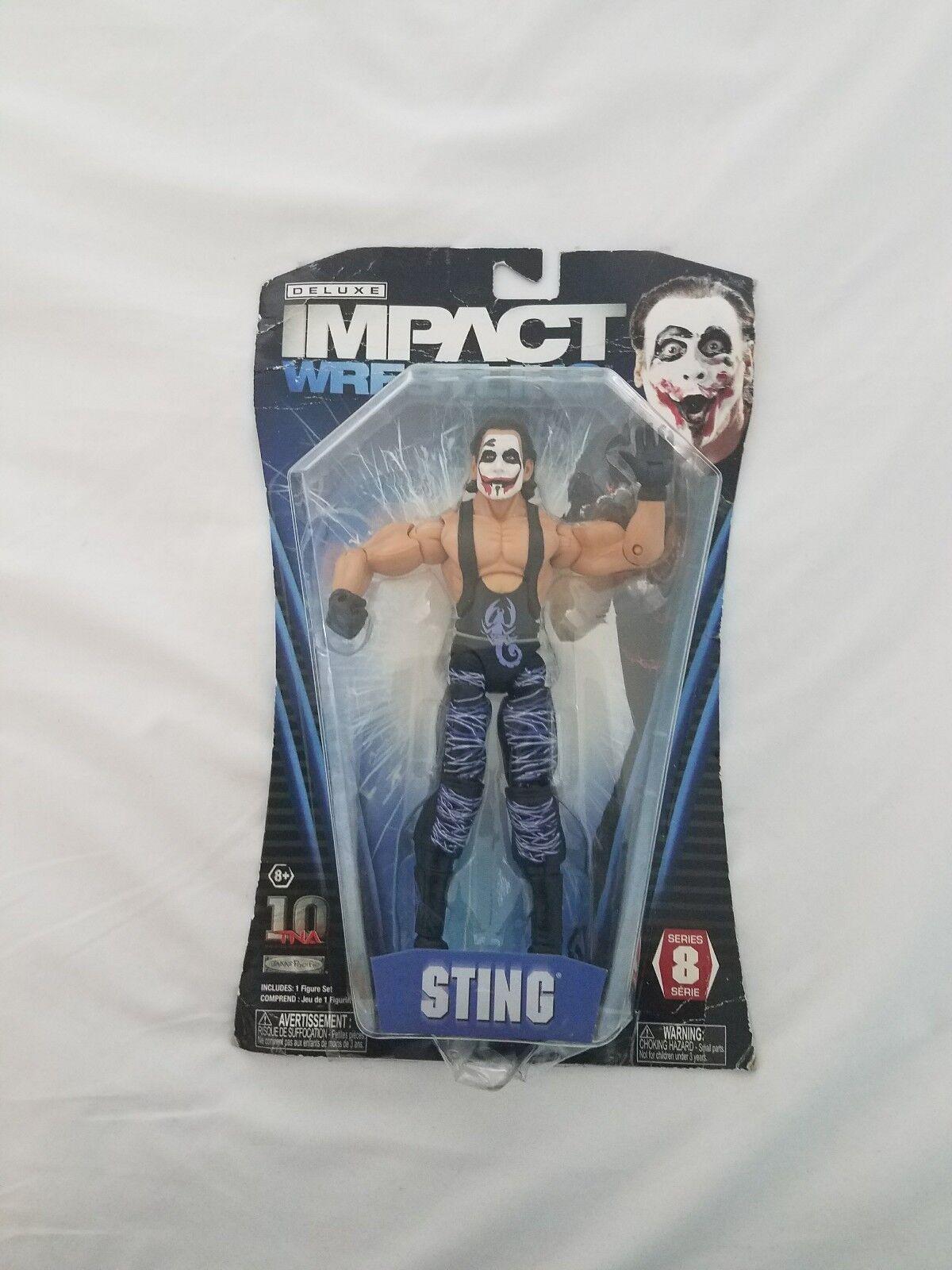 TNA Deluxe Impact Sting Serie 8 rara Sting