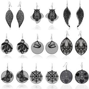 Fashion-Women-Wing-Butterfly-Rose-Teardrop-Earrings-Ear-Hook-Drop-Dangle-Jewelry