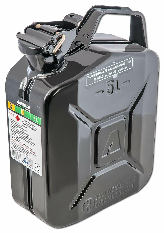 Bidon à carburant 5 l, schwarz, en métal Arnold 6011-X1–2000