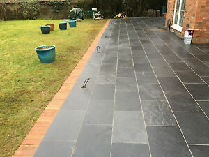 Image Is Loading Slate Paving Patio Slab Sample 100x100mm Order Here