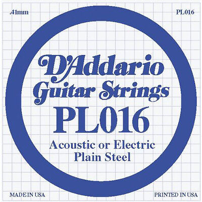 Instruction Books, Cds & Video Musical Instruments & Gear D'addario Pl016 Plain Steel .016 Gauge Guitar String Making Things Convenient For The People
