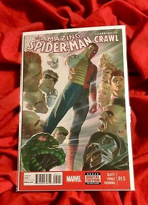 2014 THE AMAZING SPIDER-MAN #1.5 RETURN OF PETER PARKER ALEX ROSS COVER