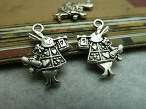 charms pendant 20x14mm Free shipping 40//80pcs Retro style alloy rabbit Mr