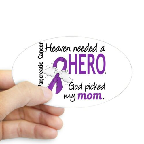 Oval CafePress Pancreatic Cancer Heaven Needed Her Sticker 1279152306