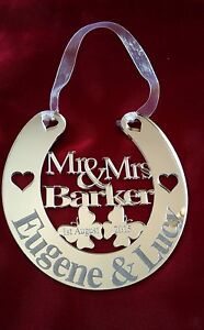 Personalised Wedding Good Luck Gifts : Personalised-Wedding-Mr-Mrs-Good-Luck-Lucky-Horseshoe-Bridal-Gift ...