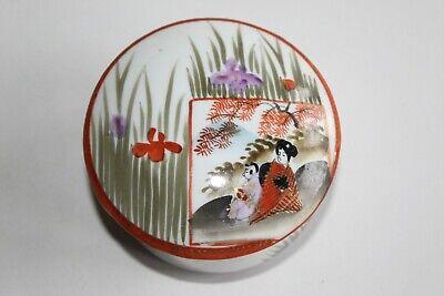 Ancienne Boite En Porcelaine Chinoise Hauteur 6.5 Cm Diamètre 9 Cm