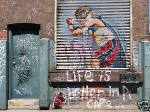 New-Canvas-Art-Print-Street-Art-Graffiti-by-Andy-Baker-Bald-Art-Not-a-Banksy