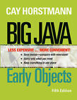 Big Java: Early Objects by Cay S Horstmann (Loose-leaf, 2012)
