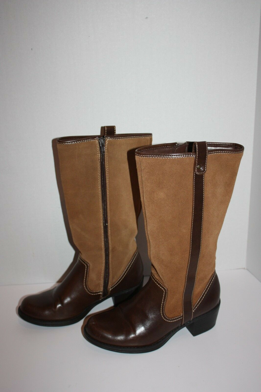 Womens Nordstrom MIA  Diablo  Brown Leather Boots Size 5