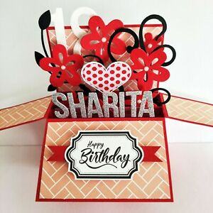 Details About Handmade Name Age Personalized Birthday Card Anniversary Card