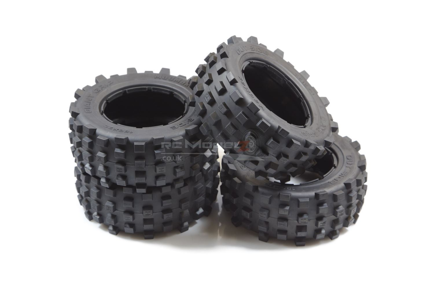 Mad Max Giant Grip Tyres - Full Set For KM X2 & Losi 5ive 1 5th RC