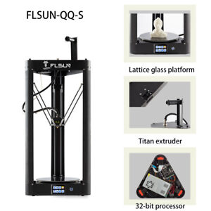 Flsun-QQ-S-3D-Printer-Lattice-glass-platform-Auto-leveling-Touch-Screen-amp-Wifi