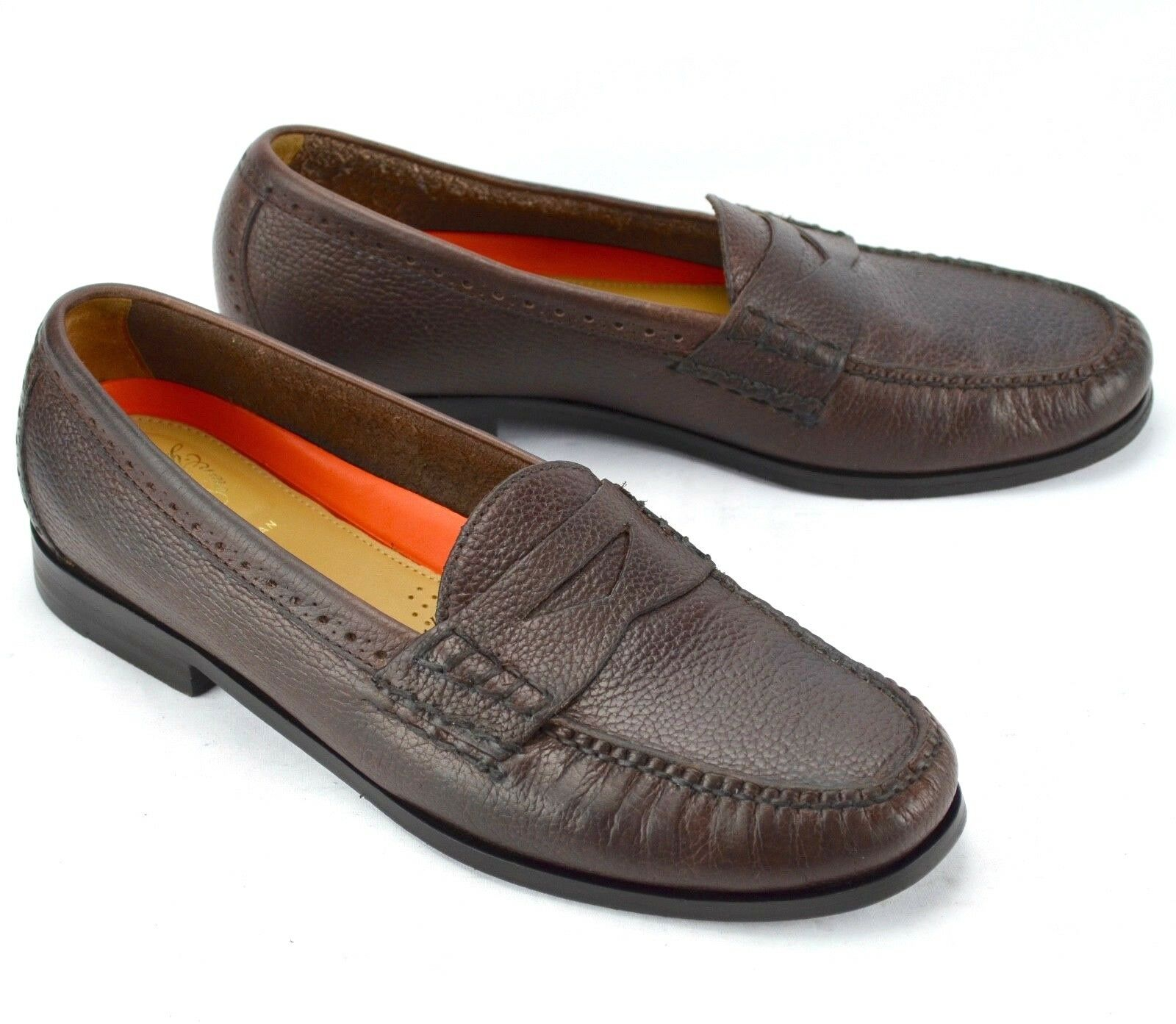 Cole Haan Uomo Hand Sewn Pinch Grand OS marrone Pelle Slip On Penny Loafers 11M