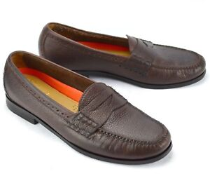 653d6a1a9f Cole Haan Mens Hand Sewn Pinch Grand OS Brown Leather Slip On Penny ...