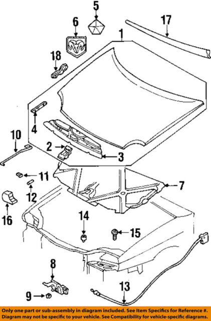 CHRYSLER OEM Hood-Latch Lock Release Cable 4658909