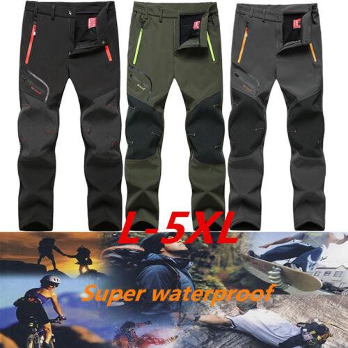 Men/'s Winter Hiking Climbing Pants Outdoor Waterproof Nylon Trousers L-5XL