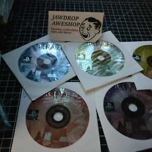 RIVEN-THE-SEQUEL-TO-MYST-PS1-DISCS-ONLY-USED-TESTED-WORKING-WEAR-PLAYSTATION-1