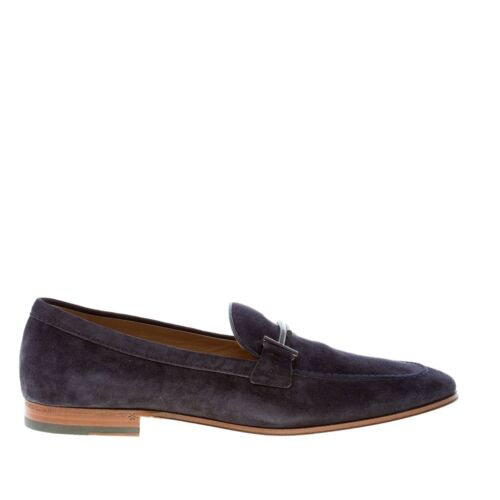 TOD/'S men shoes Blue Galassia elegant suede Double T loafer with leather sole