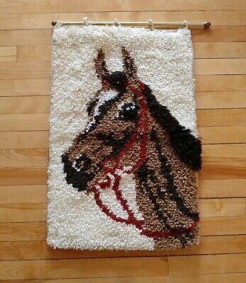 Latch Hook Rug Wall Hanging Art Horse