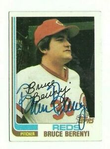 Bruce Berenyi 1982 Topps autographed auto signed card Reds