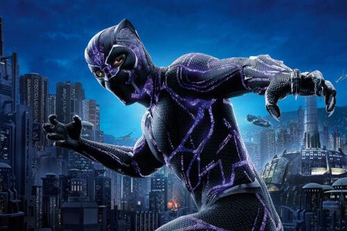 "Black Panther Comic Hero Movie Poster 36/"" x 24/"" Large Wall Poster Print Fan Art"