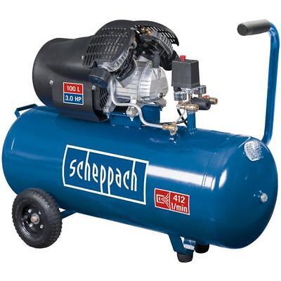 Scheppach Doppelzylinder Druckluft Kompressor HC100DC 100 L, 97 dB(A)