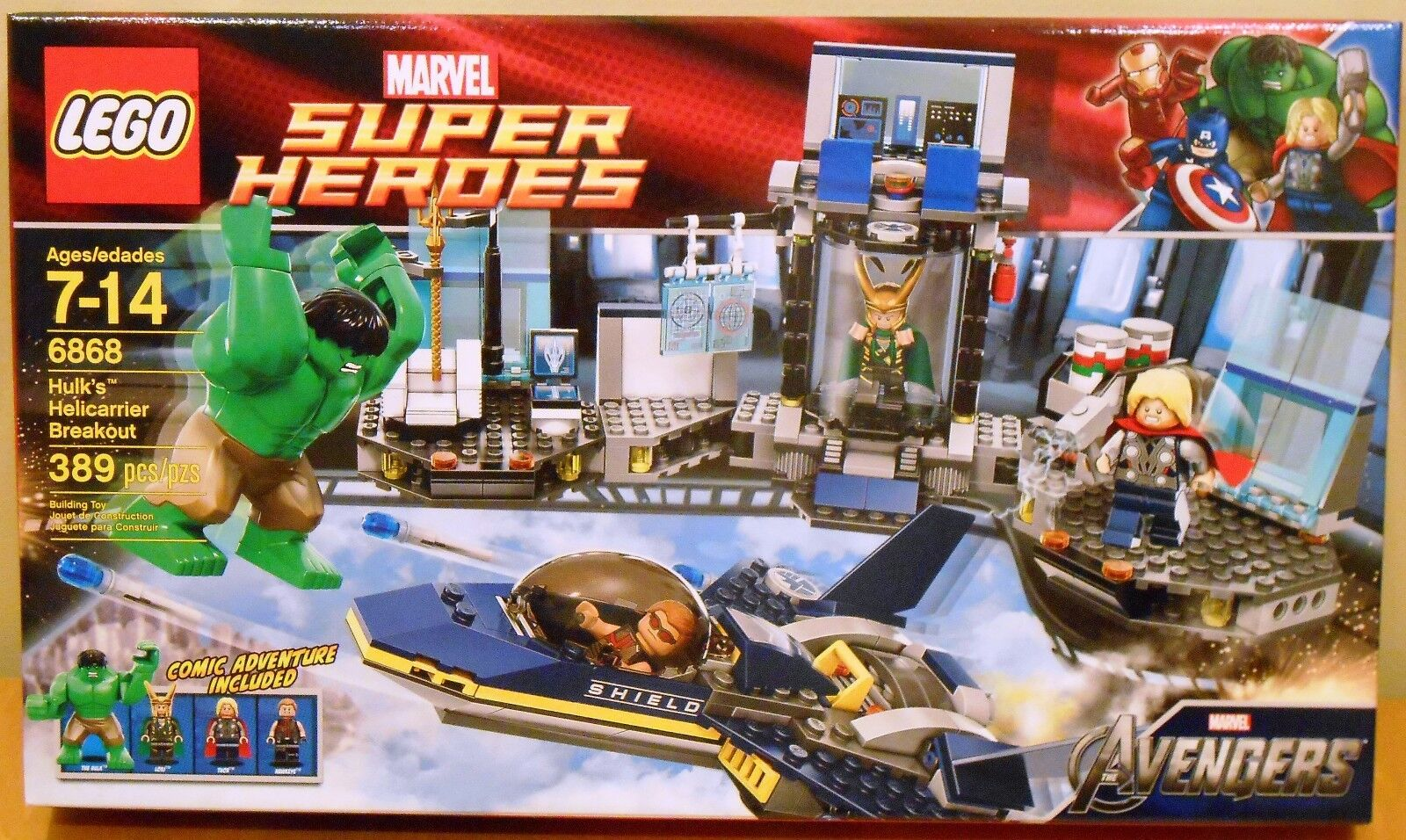 LEGO Marvel 6868 Hulk's Helicarrier Breakout NEW Super Heroes Thor + Hawkeye