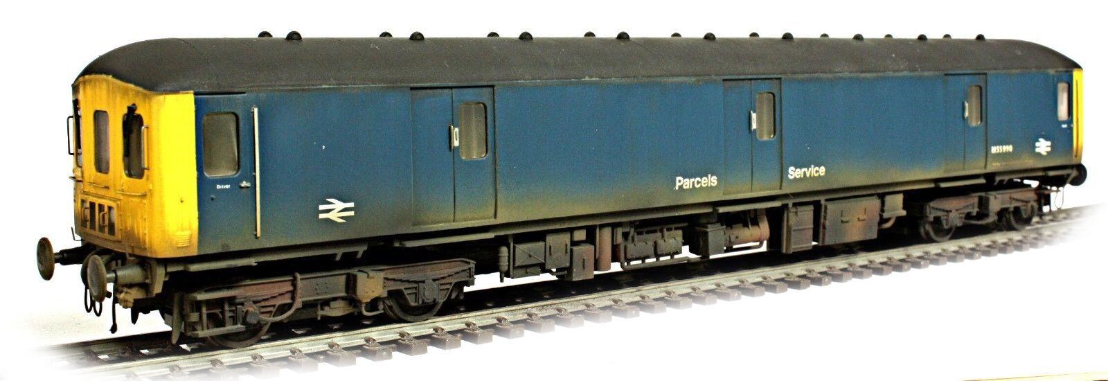 Boxed Heljan BR blu Parcels Service Class 128 DPU *WEATHErosso LOOK* M55990