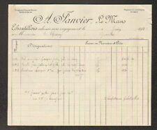 """LE MANS (72) FILATURE de CHANVRE ,TISSAGE """"A. JANVIER"""" en 1923"""