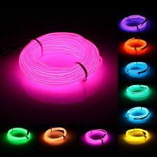 10M EL Led Flexible Soft Tube Wire Neon Glow Car Rope Strip Light Xmas Decor DC