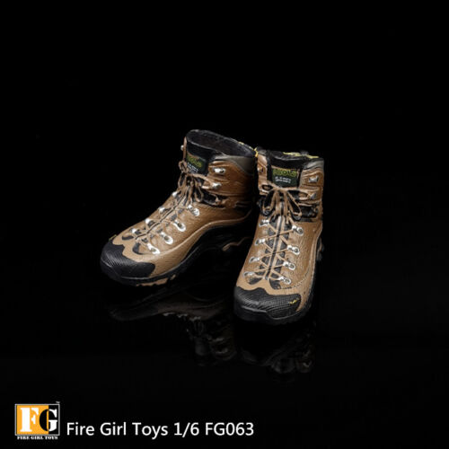 1//6 Fire Girl Toys FG063 Female Combat Boots Shoes Figure W Foot Model Inside