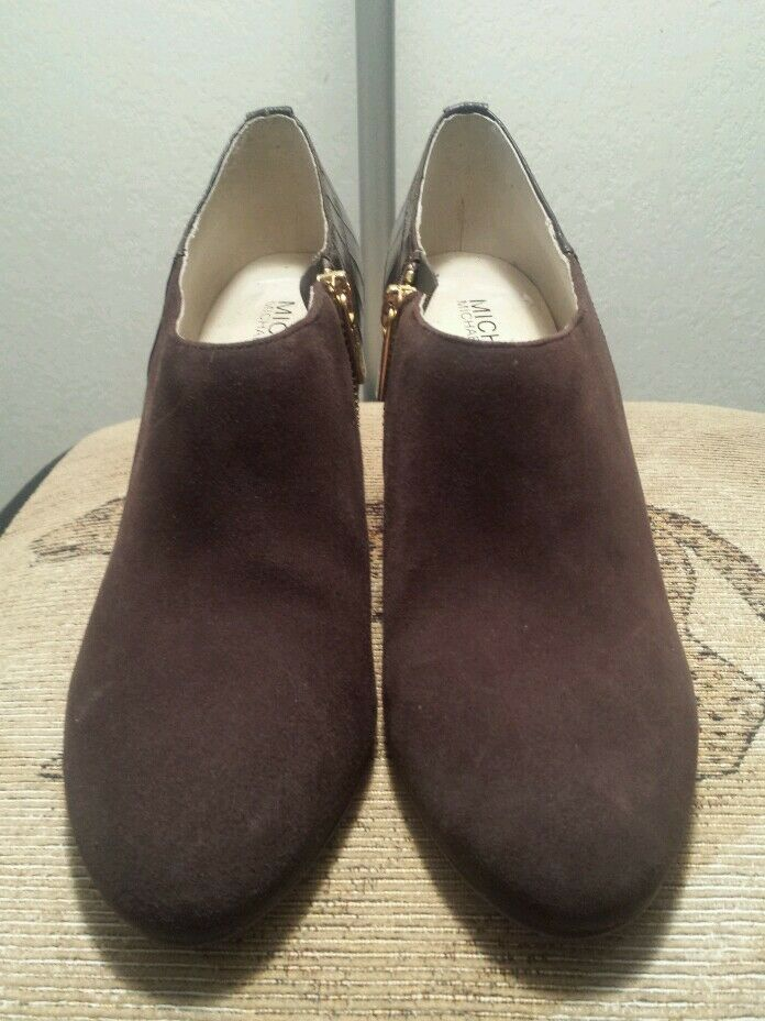 MICHAEL Michael Kors Sammy Ankle Boot Chocolate Suede Size 8 (NWOB)