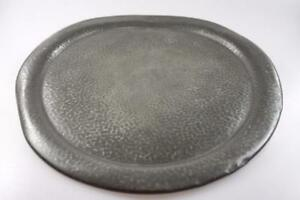 ANTIQUE-HAND-MADE-PEWTER-PLATE