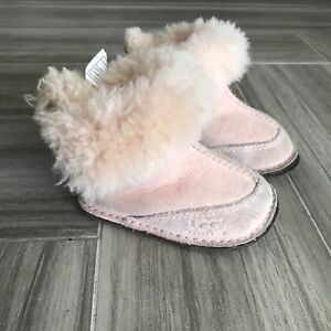 8506a74c708 Details about Ugg Baby Girl Boots Size Small Pink Warm Sherpa Lined Leather  Comfy Fall Winter
