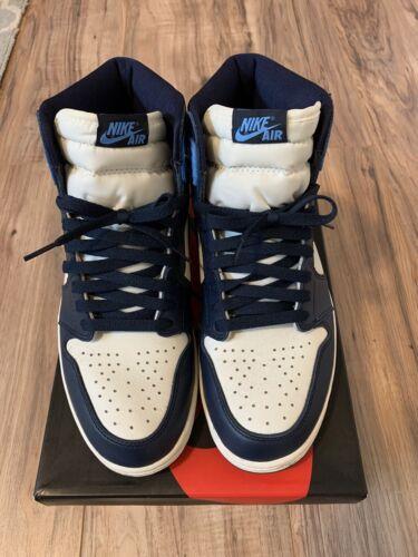 Nike Air Jordan 1 Retro High OG Obsidian UNC Size