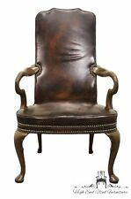 HICKORY CHAIR James River Leather Arm Chair w/ Nail Head Trim 1892