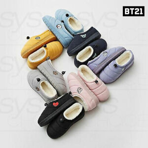 BTS BT21 Official Authentic Goods Cutie padding Winter Slipper + Tracking Number
