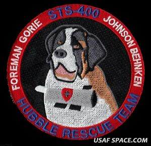 "HUBBLE RESCUE TEAM  STS-400 Mission NASA SPACE SHUTTLE  4"" HOOK & LOOP PATCH"