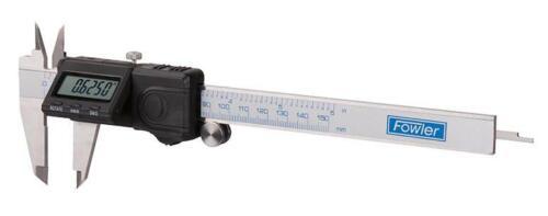 "Fowler 54-200-506-0 Flip Plus Electronic Caliper 0-6/""//150mm Range .0005/""//0.01mm"