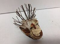Fall Thanksgiving Wooden Natural Grapevine Tree Bark Turkey Small Placecard Hold