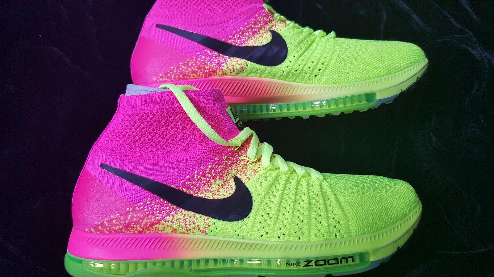 MENS ALL NIKE ZOOM ALL MENS OUT FLYKNIT OC PINK VOLT SZ 10.5 61b3f9