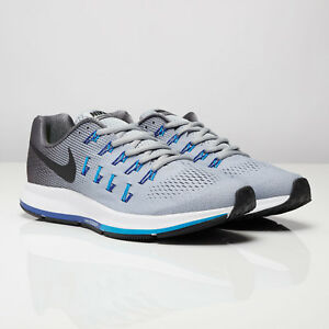 los angeles e20d6 37a6b Details about Nike Air Zoom Pegasus 33 Wolf Grey Black Dark Grey running  training 831352-004