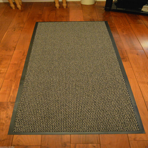 HEAVY DUTY NON SLIP RUBBER BARRIER MAT LARGE /& SMALL RUGS BACK DOOR HALL KITCHEN
