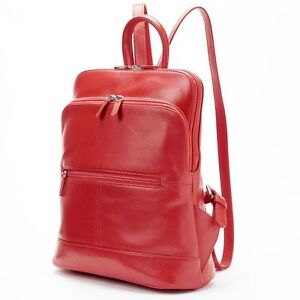 mann Verstellbaren Rucksack Klassisch Leder Rot Neu Trägern Mit Italia Tablet wE0Rn1q