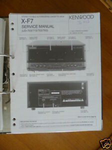 Service-manual Kenwood X-f7 Cassette Deck,original Verhindern Dass Haare Vergrau Werden Und Helfen Den Teint Zu Erhalten