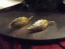 Ohrstecker Ohrhänger Blatt Blätter groß Gold plattiert vergoldet NICKELFREI S25
