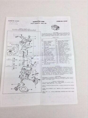 HOLLEY 1909 1 BARREL CARBURETOR KIT 1963-1965 AMERICAN MOTORS 196 ENGINE