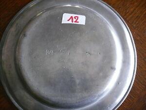 Rarität fast 200 Jahre alter Zinn Teller Zinnteller massiv Zinn 3x gestempelt 12