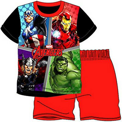 Marvel Avengers//Superhero All-Over-Print Boys T-Shirt BNWT